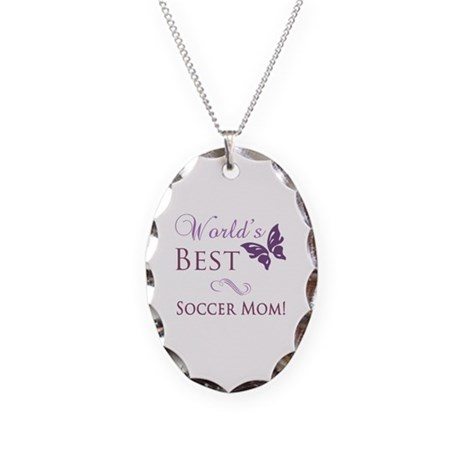 World's Best Soccer Mom Necklace Oval Charm