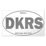 Daikers Euro Sticker (Rectangle 50 pk)