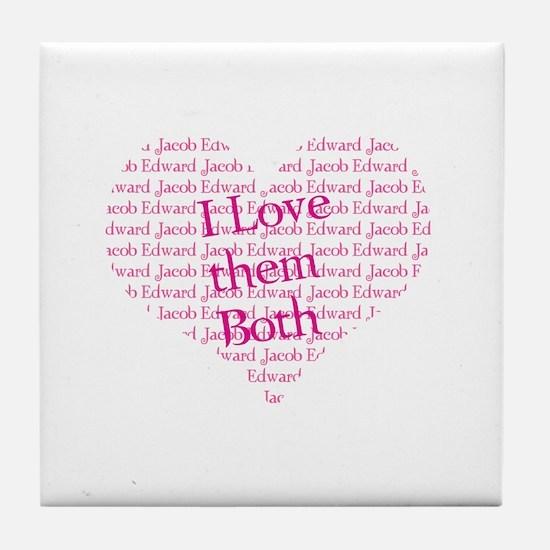 I love them both Tile Coaster
