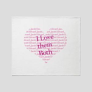 I love them both Throw Blanket