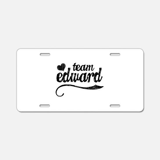 Team Edward Aluminum License Plate