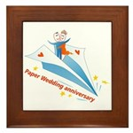 On Paper Plane Framed Tile