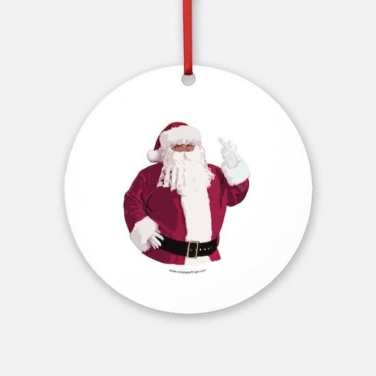 Merry Christmas - Dark Ornament (Round)