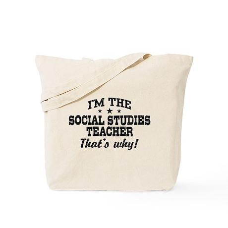 Social Studies Teacher Tote Bag