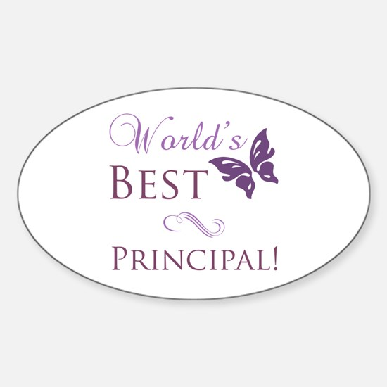 World's Best Principal Sticker (Oval)