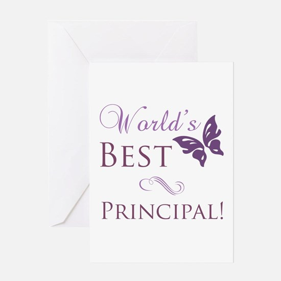 World's Best Principal Greeting Card