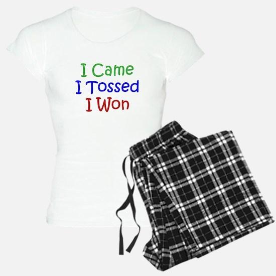 I Came I Tossed I Won Pajamas