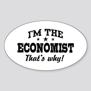 Economist Sticker (Oval)
