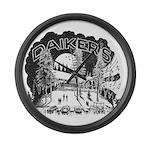 Daikers Logo Large Wall Clock