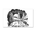 Daikers Logo Car Magnet 20 x 12