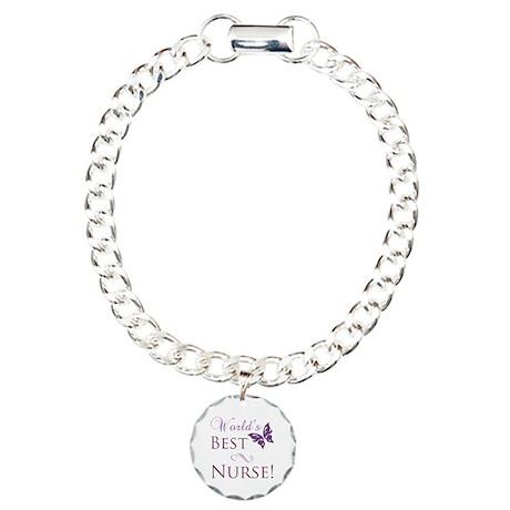 World's Best Nurse Charm Bracelet, One Charm