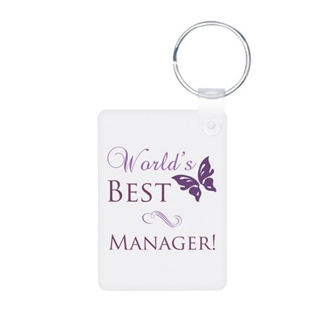 World's Best Manager Aluminum Photo Keychain