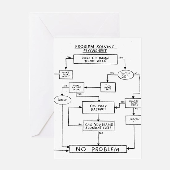 Life Flowchart Greeting Card
