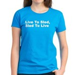Live to Sled Women's Dark T-Shirt