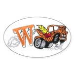 Weatherly Wrecker Sticker (Oval 10 pk)