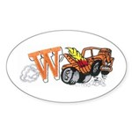 Weatherly Wrecker Sticker (Oval)