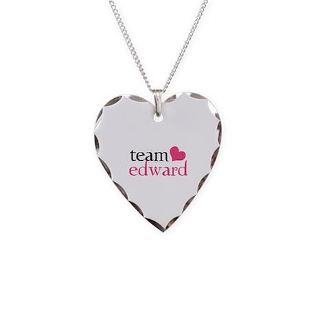 Team Edward Necklace Heart Charm