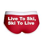 Live to Ski Women's Boy Brief