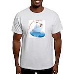 On Paper Ship Ash Grey T-Shirt