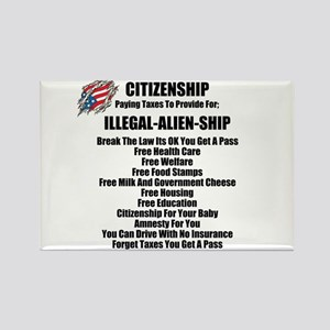 ILLEGAL-ALIEN-SHIP Rectangle Magnet