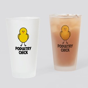 Podiatry Chick Drinking Glass