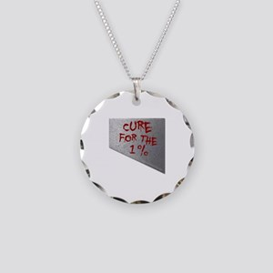 Cure for the 1 percent Necklace Circle Charm