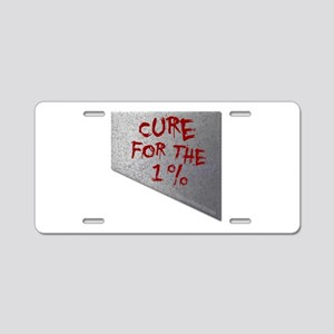 Cure for the 1 percent Aluminum License Plate