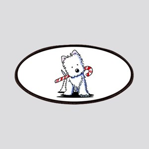 Candy Cane Westie Patches