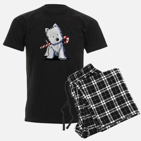Candy Cane Westie Pajamas