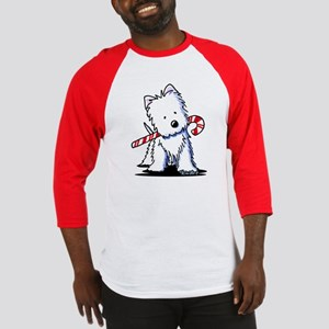 Candy Cane Westie Baseball Jersey