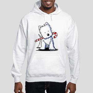 Candy Cane Westie Hooded Sweatshirt