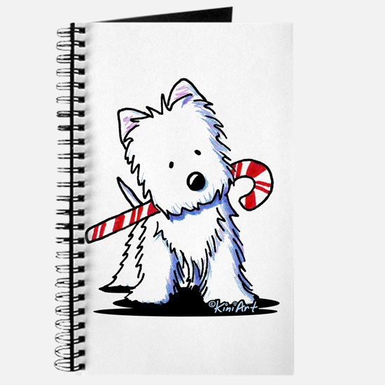 Candy Cane Westie Journal