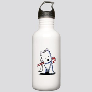 Candy Cane Westie Stainless Water Bottle 1.0L