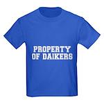 Property of Daikers Kids Dark T-Shirt