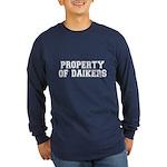 Property of Daikers Long Sleeve Dark T-Shirt