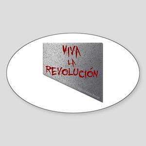 Viva la Revolucion Sticker (Oval)