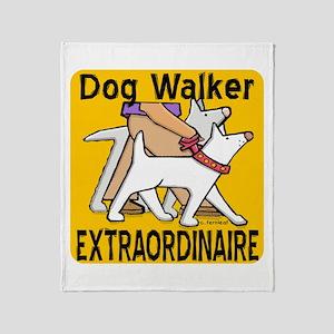 Professional Dog Walker Throw Blanket