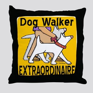 Professional Dog Walker Throw Pillow