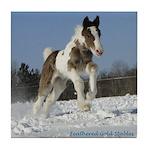 Gypsy Horses Winter Series - Tile Coaster #4