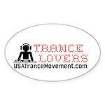 Trance Lovers Sticker (Oval)