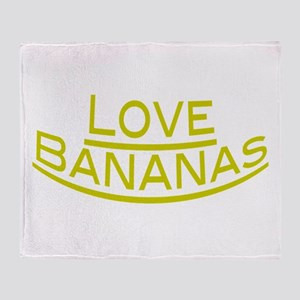 Love Bananas Throw Blanket