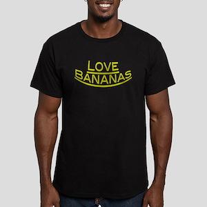Love Bananas Men's Fitted T-Shirt (dark)