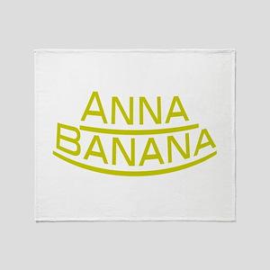 Anna Banana Throw Blanket