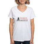 Trance Lovers Women's V-Neck T-Shirt