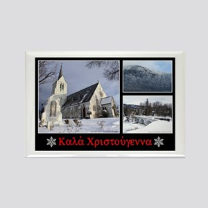 Greek Merry Christmas - 4 Rectangle Magnet