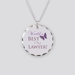 World's Best Lawyer Necklace Circle Charm
