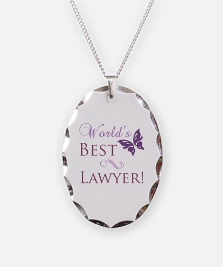 World's Best Lawyer Necklace