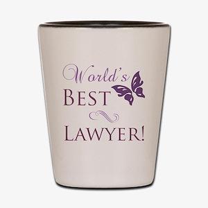 World's Best Lawyer Shot Glass