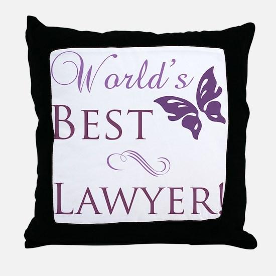 World's Best Lawyer Throw Pillow