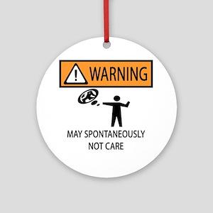Warning Honey Badger Ornament (Round)